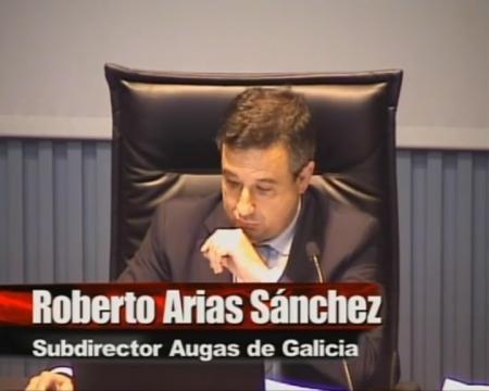 Roberto Arias Sánchez, subdirector xeral de Planificación e Proxectos de Augas de Galicia. - Xornada sobre a Lei 9/2010, do 4 de novembro, de Augas de Galicia